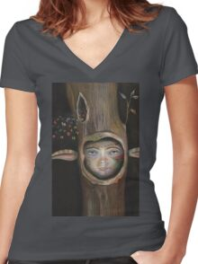 Tree Life Women's Fitted V-Neck T-Shirt