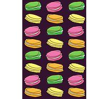 Macaroons - pattern Photographic Print