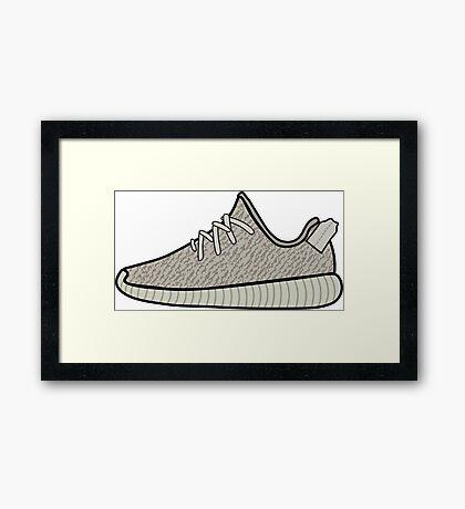 Yeezy Boost 350 Moonrock Framed Print