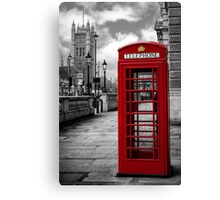 London: Red Phone Booth Canvas Print