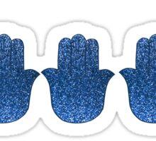Glitter Navy Hamsas Sticker