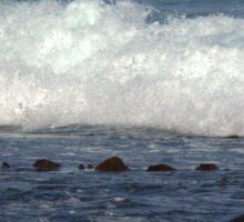 Port Fairy - waves roll in Sticker