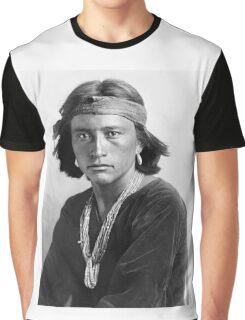 Navajo Boy by Karl Moon Graphic T-Shirt