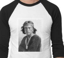 Navajo Boy by Karl Moon Men's Baseball ¾ T-Shirt