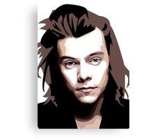 Long hair Vector portrait Canvas Print