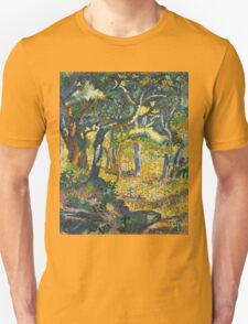 Ferdinand Hodler - Landscape Of The Swiss Alps 1918. Hodler - forest view. Unisex T-Shirt