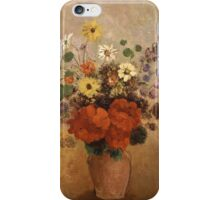 Odilon Redon - Flowers In A Vase. Odilon Redon - still life with flowers. iPhone Case/Skin