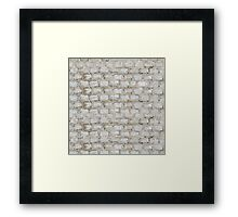 Brick blocks Framed Print