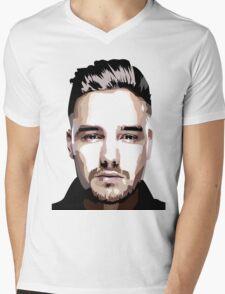 Short hair vector portrait Mens V-Neck T-Shirt