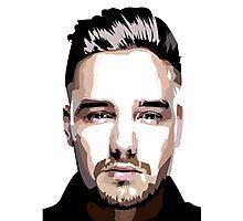 Short hair vector portrait Photographic Print