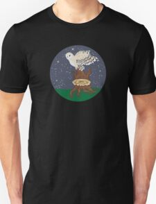 Barn Owl on a Tree Stump Unisex T-Shirt