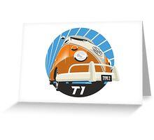 VW Type 2 Transporter T1 orange Greeting Card