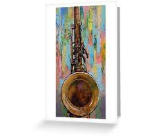 Sax Greeting Card