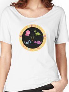 Dinamic Girls Collection - Girl Dinosaur Design Women's Relaxed Fit T-Shirt