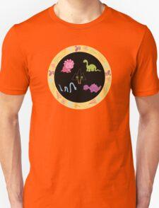 Dinamic Girls Collection - Girl Dinosaur Design Unisex T-Shirt