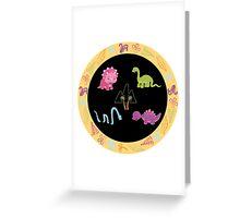 Dinamic Girls Collection - Girl Dinosaur Design Greeting Card