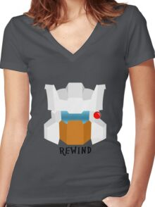 Autobot Rewind Women's Fitted V-Neck T-Shirt