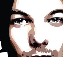 medium length hair vector portrait Sticker