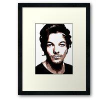 medium length hair vector portrait Framed Print