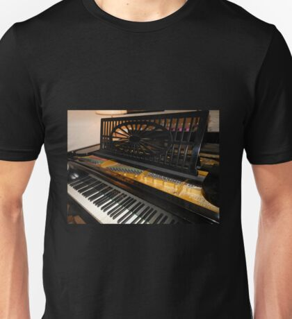 Bechstein Mini Grand Piano - Keyboard Close-up Unisex T-Shirt
