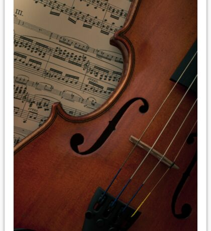 Rare old violin with bow Sticker