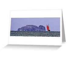 GALLIMAUFRY ~ Red Sail by tasmanianartist Greeting Card