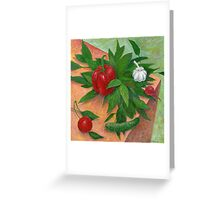 still life with pepper Greeting Card