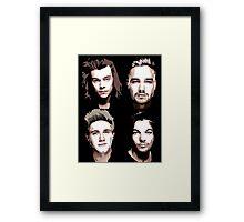 group vector portrait Framed Print