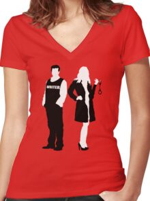 Castle& Beckett Women's Fitted V-Neck T-Shirt