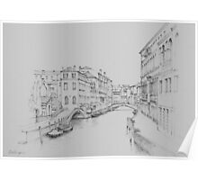 Venice, Rio del Carmini Poster