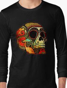 Grunge Skull Long Sleeve T-Shirt