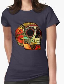 Grunge Skull Womens Fitted T-Shirt