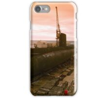 Submarine on drydock iPhone Case/Skin