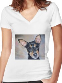 Mixed Breed Women's Fitted V-Neck T-Shirt