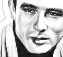 Classic actor Graphite pencil portrait Sticker