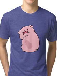Gravity Falls Waddles Pig Tri-blend T-Shirt