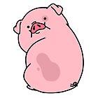 Gravity Falls Waddles Pig by acidunderground