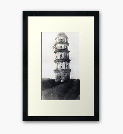 Historic Asian tower building Framed Print