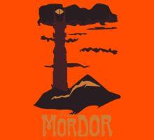 Mordor vintage travel poster Kids Tee