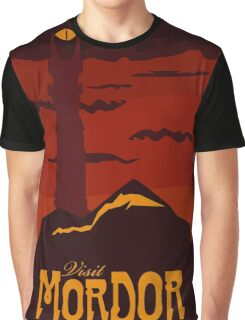 Mordor vintage travel poster Graphic T-Shirt