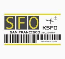 Destination San Francisco Airport Baby Tee