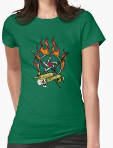 Hell's Bells tattoo Womens Fitted T-Shirt