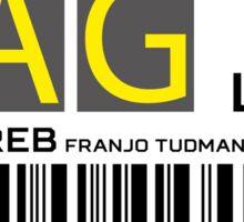 Destination Zagreb Airport Sticker