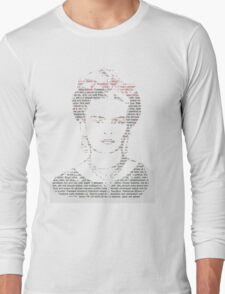 Frida Kahlo Typogrpahy Tee Long Sleeve T-Shirt