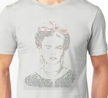 Frida Kahlo Typogrpahy Tee Unisex T-Shirt