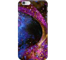 Bright abstract violet star background with bokeh.  iPhone Case/Skin