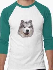 Cute Alaskan Malamute Men's Baseball ¾ T-Shirt