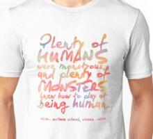 "VICIOUS QUOTE | ""HUMANS & MONSTERS"" Unisex T-Shirt"