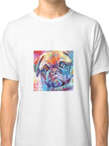 Pug in vibrant colours Classic T-Shirt