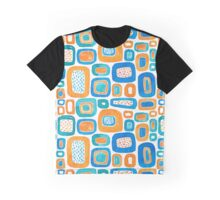 Memphis Style Watercolor Abstract Graphic T-Shirt